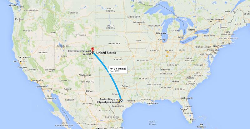 Austin to Denver; Jon and Kelsey