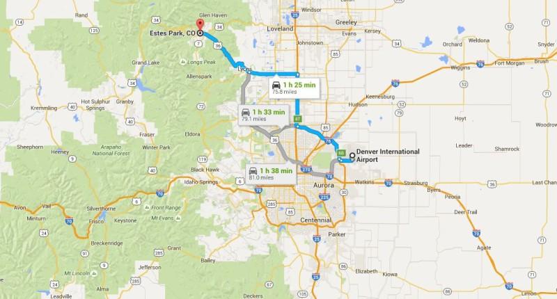 Denver International to Estes Park; Jon and Kelsey