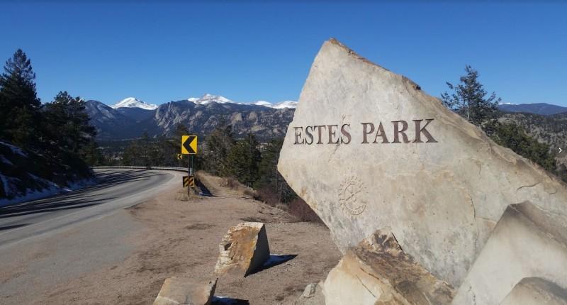 Estes Park, CO, Landmark; Jon and Kelsey