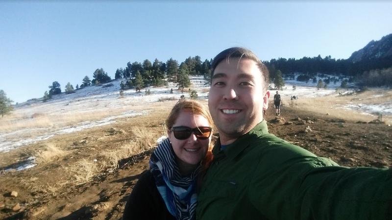 Flatiron Trailhead, Boulder, CO; Jon and Kelsey